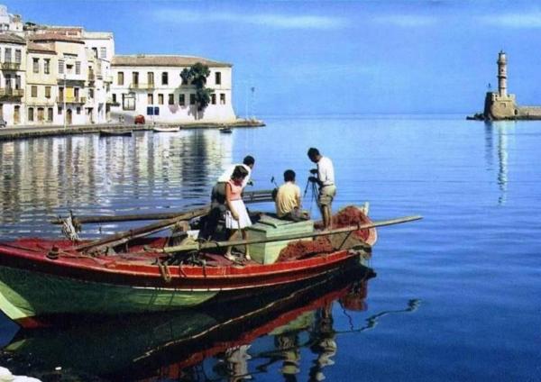 Chania 1970 Hafen