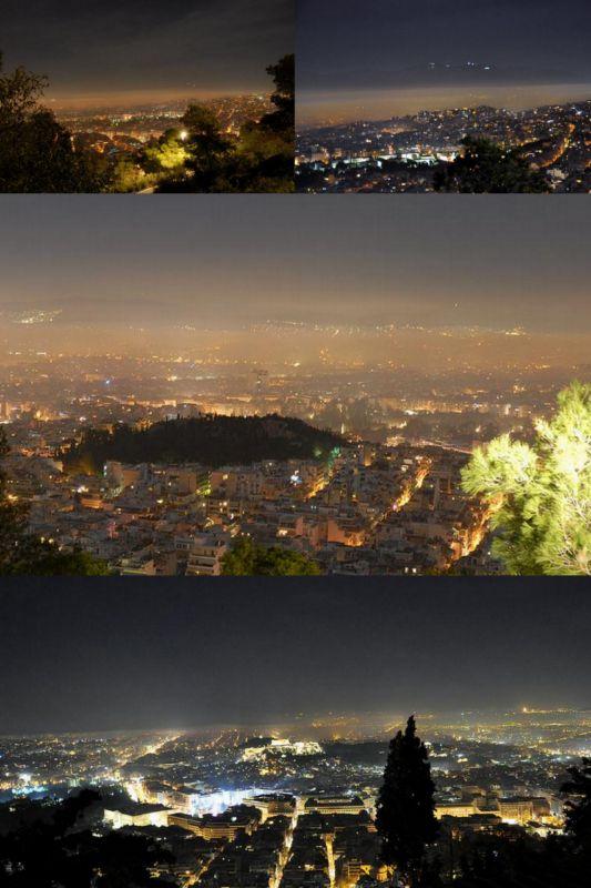 Smog über Athen. Bild Wassilis Aswestopoulos