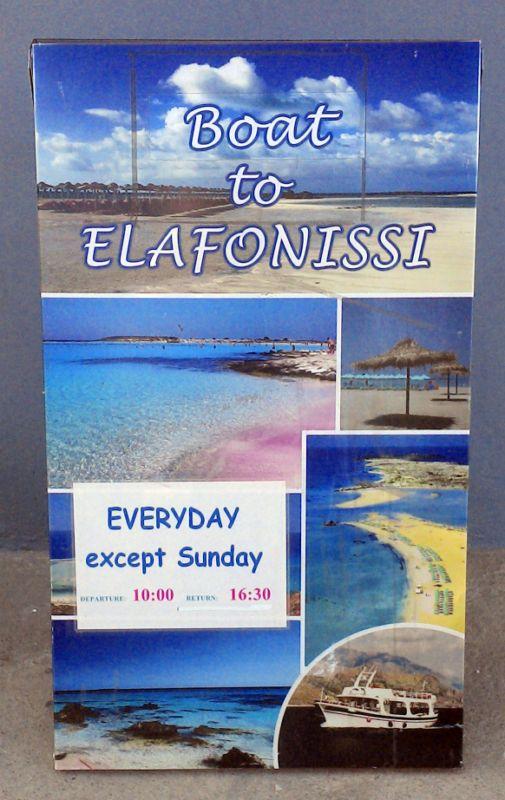 Fahrplan Elafonisi