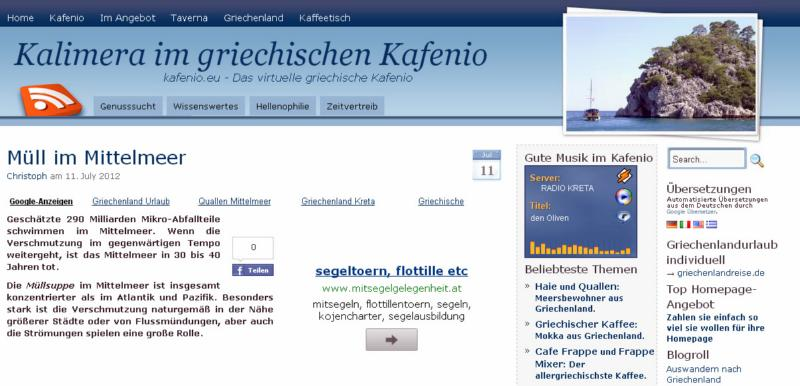 kafenio-website