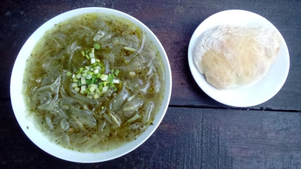 Zwiebelsuppe mit Ciabatta 1