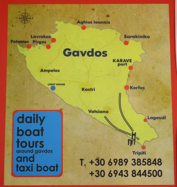 Gavdos Karte