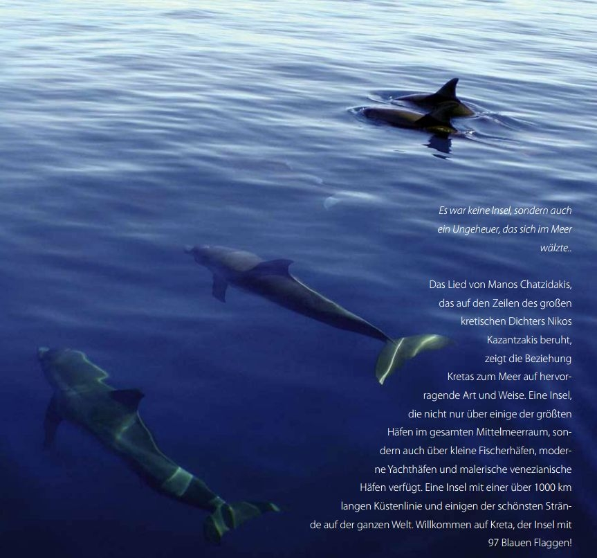 Delfine und Flaggen