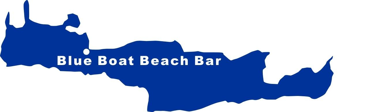 Aufkleber Blue Boat Beach Bar