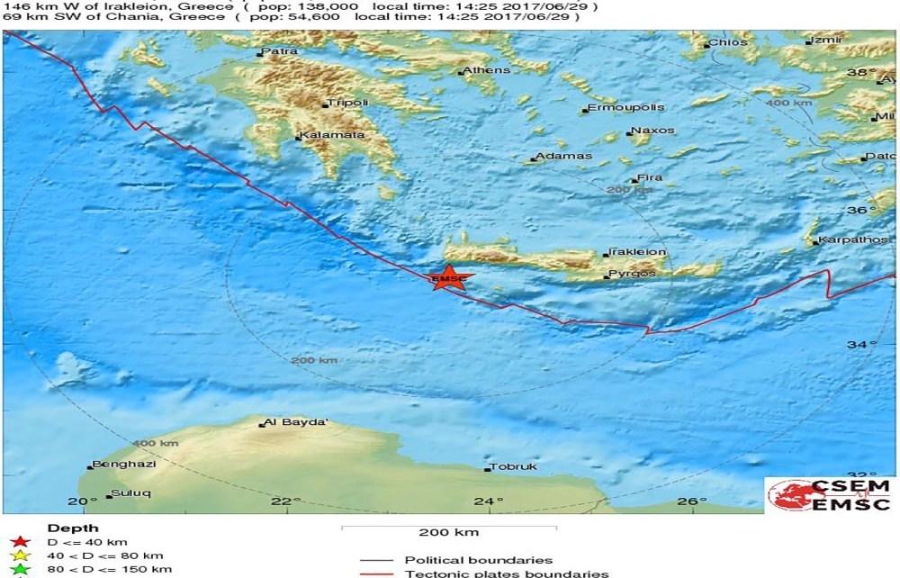 Erdbeben Paleochora 29.06.2017