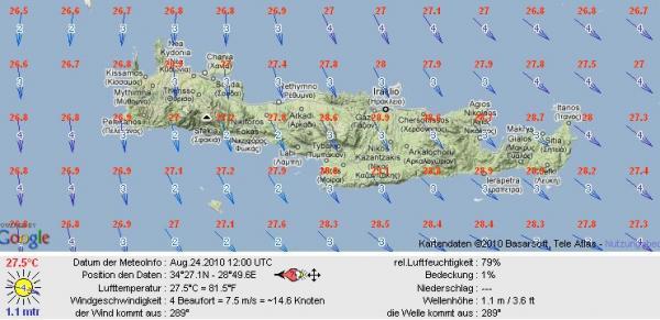 MELTEMI und die aktuellen Winddaten   Radio Kreta