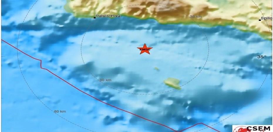 Paleochora Erdbeben 22.12.2016