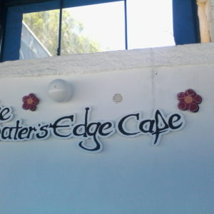 Schild Waters Edge Cafe