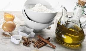 Zutaten-Olivenölkuchen