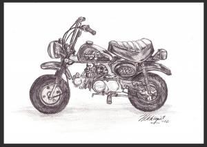 honda-monkey-zeichnung