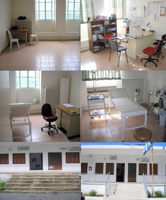 Die Arztpraxis in Fournes: links vorher, rechts nachher