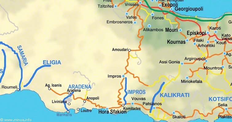 Imbros Karte