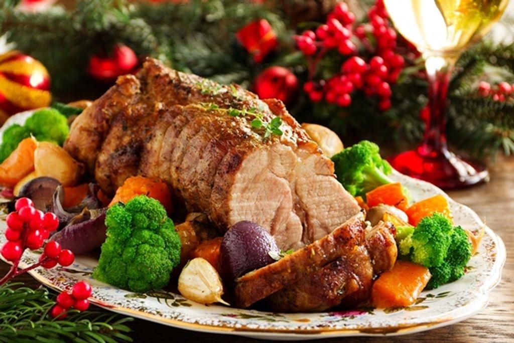 Schweinefleisch zu Weihnacht