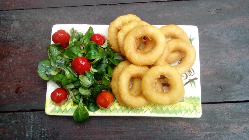 Frittierte Kalamari mit Feldsalat Tag 41