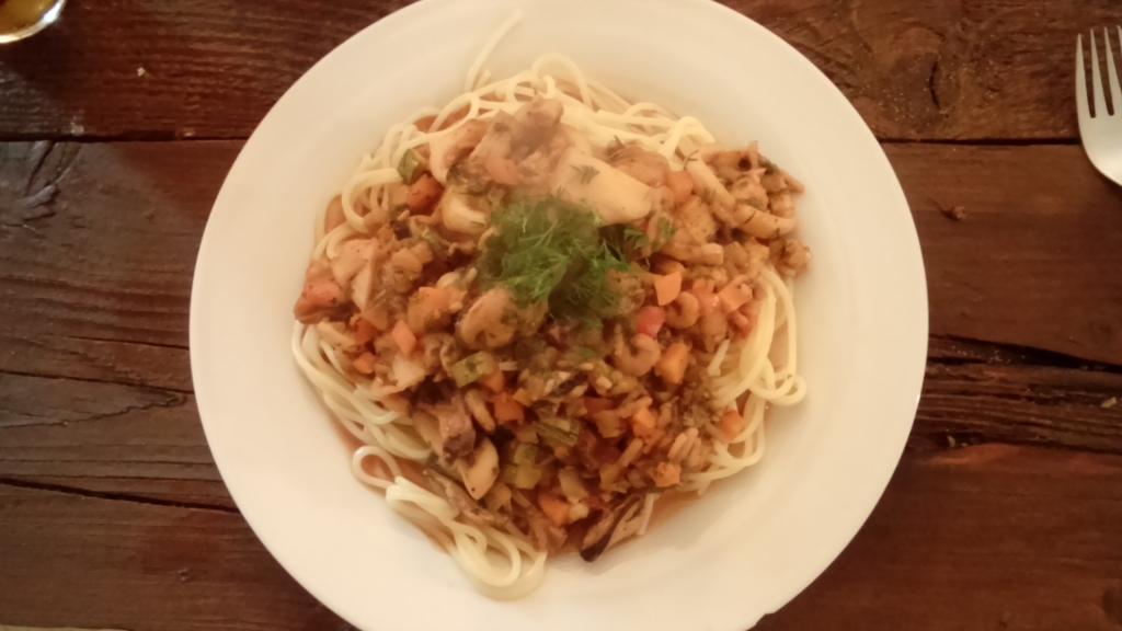 Spaghetti Frutti di Mare a la Su