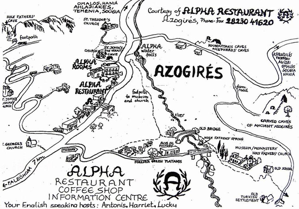 Azogyres Karte