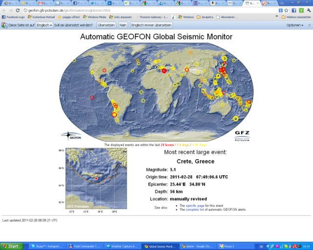 Aktuell Erdbeben auf Kreta der Stärke 5,1   Radio Kreta