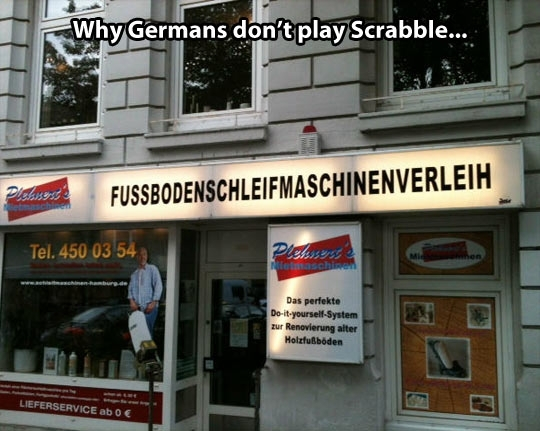 Why Germans dont play scrabble