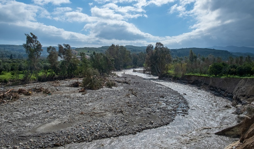 Der Tavronitis Fluss im Westen Kretas.