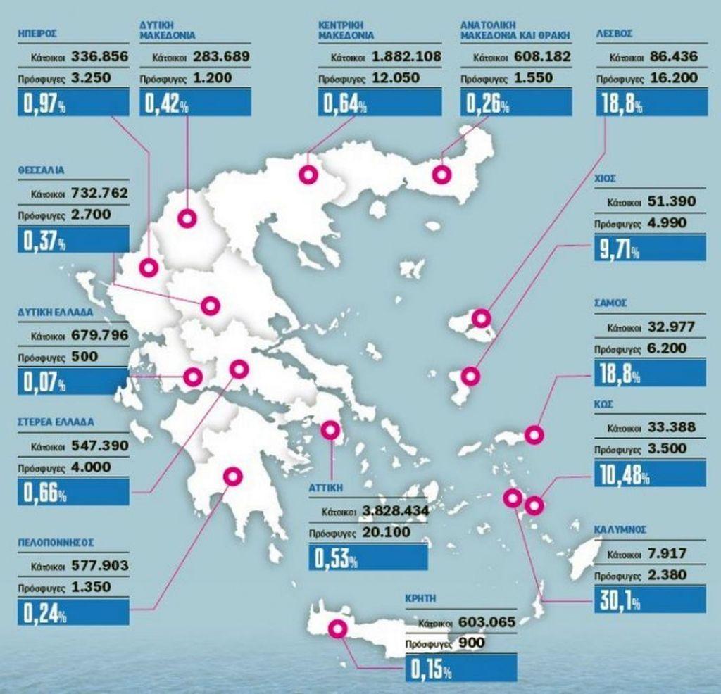 Karte Flüchtlinge